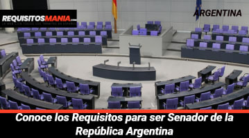 Requisitos para ser senador