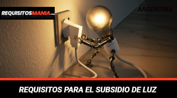 Requisitos para subsidio de luz