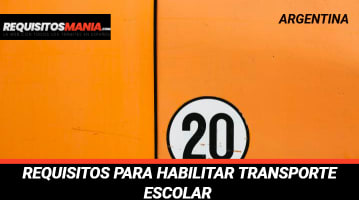 """Requisitos para habilitar transporte escolar """